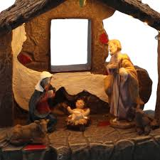 aliexpress com buy christmas home decor nativity scene figurines aliexpress com buy christmas home decor nativity scene figurines set and house with warm white led light from reliable set figurines suppliers on inno