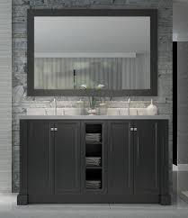 Double Bathroom Sink Cabinets Ariel Westwood 61 Inch Double Sink Vanity Set In Black