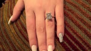 4 carat cubic zirconia engagement rings cubic zirconia emerald cut 4 carat solitaire prong ring 14k
