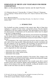 ionization of fruits and vegetables for fresh consumption springer