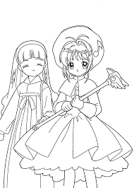 book sakura anime coloring pages kids printable free