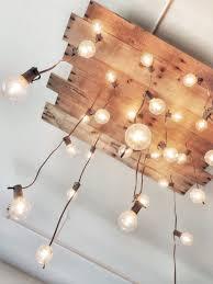 Handmade Chandeliers Lighting Diy Handmade Reclaimed Pallet Chandelier Id Lights