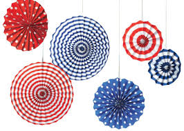 hanging paper fans fourth of july hanging paper rosette fans fourth of july wikii