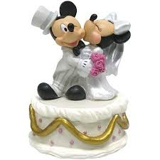 mickey and minnie wedding mickey minnie disney wedding cake topper figurine wedding
