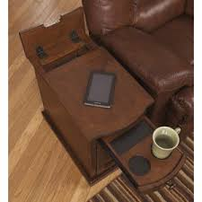 chairside table with charging station end tables side tables with charging station hayneedle