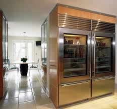 wood cabinets with glass doors glass door refrigerator home bar traditional with dark wood