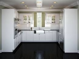 U Shaped Kitchen Designs With Island by U Shaped Kitchen With Wooden Center Island Table Maximize Your
