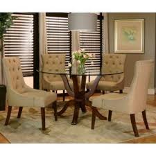 round glass dining room sets foter
