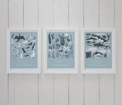 british coast set of 3 u0027 prints in duck egg blue u2013 bold u0026 noble