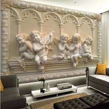 home decor 3d wholesale removable 3d wall murals wallpaper with jade european