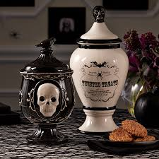 gothic glam set of 2 black and white cookie jars