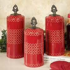 Ceramic Kitchen Canister Sets Red Ceramic Canister Sets For Kitchen Within Red Canister Set For