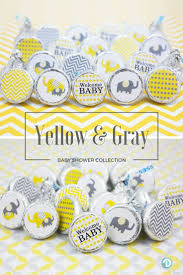 in baby shower 67 best yellow and gray elephant baby shower theme ideas images on