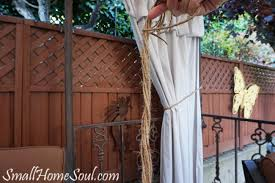 Curtains On Patio Drop Cloth Curtains My Patio Refresh Part 3 Small Home Soul