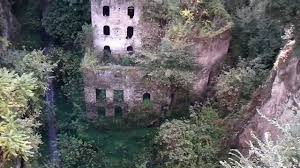 sorrento italy abandoned mill castle in 1866 vallone dei