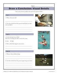 visual details drawing conclusions middle and worksheets