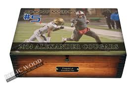 engraved football gifts personalized football player memory box