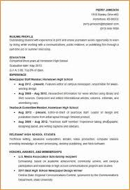 Good Resume Example For High by High Student Resume Template Madinbelgrade High