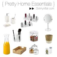 home essentials pretty home essentials the container store giveaway skinny affair