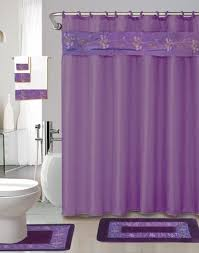 Bathroom Sets Shower Curtain Rugs 22 Bath Accessory Set Purple Flower Bath Rug Set