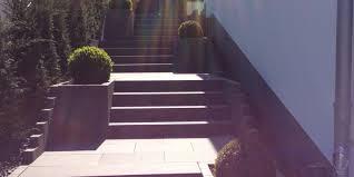 Garten Gestalten Vorher Nachher Treppenanlagen Gartentreppen Treppenstufen Garten