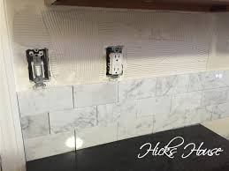 Carrara Marble Backsplash Hicks House - Marble backsplash tiles