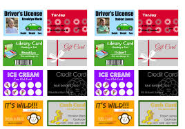 printable and customizable play credit cards the crazy craft lady