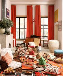 wonderful scarf orange curtains for single windows treatments