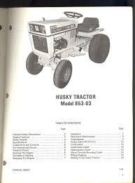 1970 bolens husky tractor model 853 03 owners operators