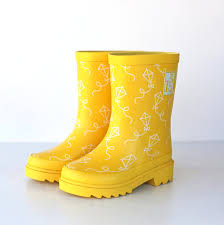 s yellow boots paper string boot littles