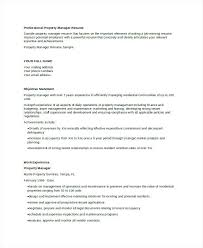 resume property manager resume sample property manager resume
