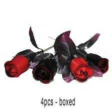 Halloween Decoration Props Uk by Black U0026 Red Roses Halloween Decorations Props Box 4pcs By