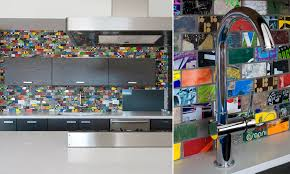 Art Of Board  Cool Recycled Tiles Make From Skateboards Rubble - Recycled backsplash
