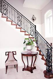 Victorian Banister Wrought Iron Staircase Staircase Mediterranean With Wrought Iron