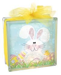 bunny decopauge glass block crafts direct