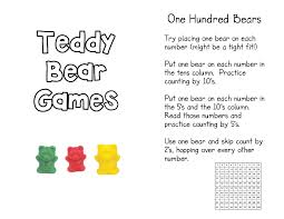 teddy bear counters kindergarten nana