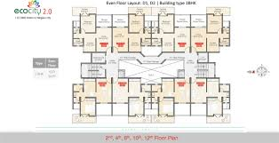 1bhk floor plan 1 bhk and 2 bhk apartments in talegaon eco city