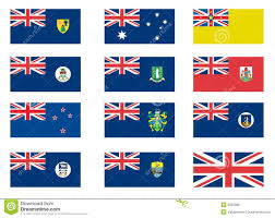 Colonial Flag British Colonial Flags Stock Vector Illustration Of Concept 9320308