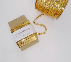 sequin ribbon items similar to 5 yards gold sequin ribbon sequin trim glitter
