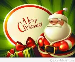 card merry wish with santa claus hd wallpaper