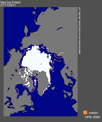 Snow Coverage Map July 2011 Arctic Sea Ice News And Analysis
