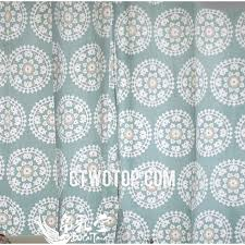 White Patterned Curtains Cheap Cotton Organic Light Teal And White Patterned Country Porch