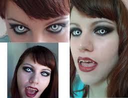 vampire halloween make up white contacts youtube