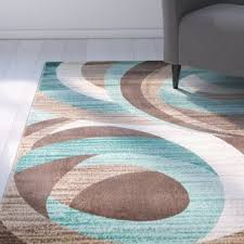 Teal Area Rug Teal And Brown Area Rug Wayfair