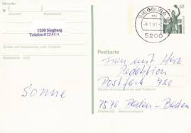 Baden Baden Postleitzahl Philaseiten De Stempel Zuordnen Maschinenstempel Oder Handstempel