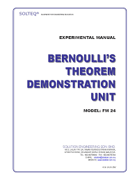 bernoulli theorem fm24 complete manual pressure fluid dynamics