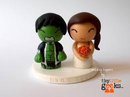 wedding cake topper custom cake topper hulk and bride