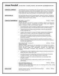 Resume Format For Office Job by Attractive Administrative Clerk Resume Template Sample With