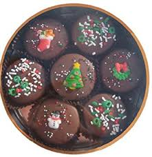 Decorated Gourmet Cookies Amazon Com Chocolate Dipped Oreo Cookies Decorated For Christmas
