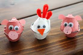 egg carton animal craft design ideas easy arts and crafts ideas